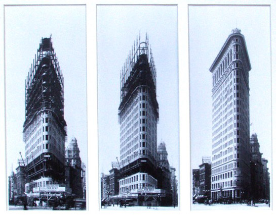 Flatiron building le fer repasser de new york for House under construction insurance