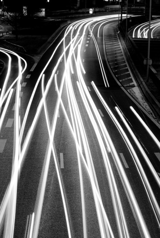 Car light long exposure