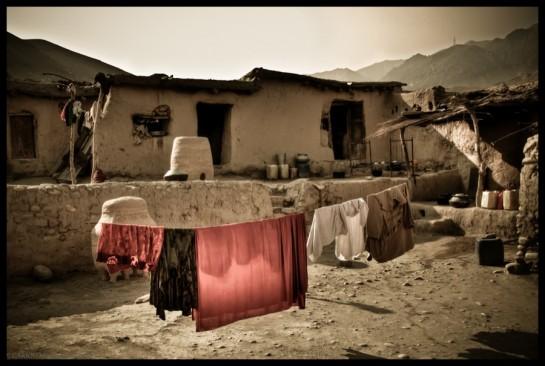 La cour intérieur d'un village
