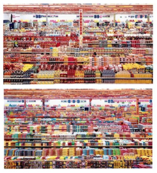 Andreas Gursky : 99 Cent II Diptychon