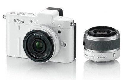 Nikon 1 V1 blanc 10 30