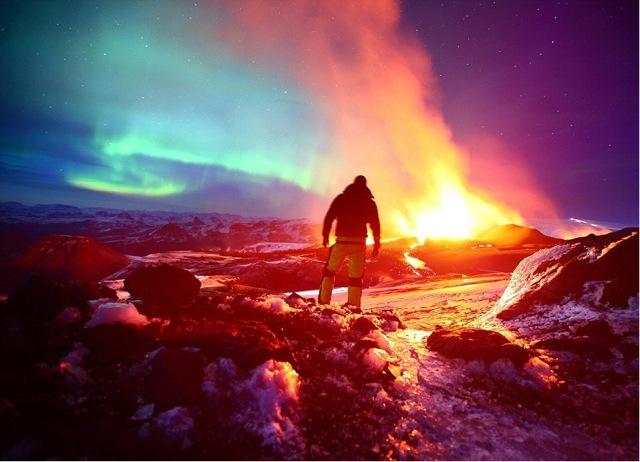 Entrer Dans Un Volcan Islande