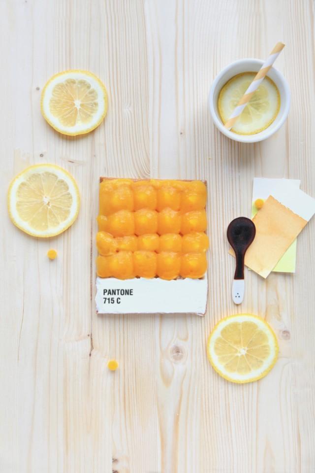 La tarte Pantone citron