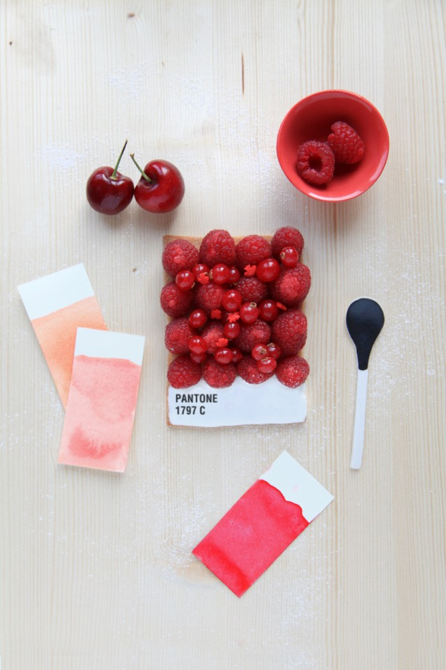 La tarte Pantone fruits rouges
