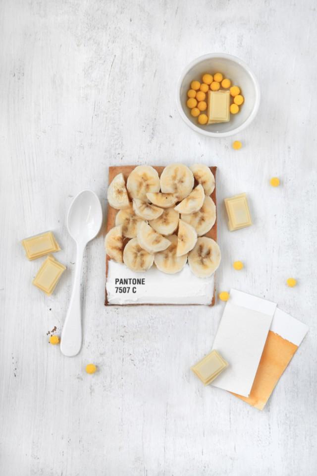 La tarte Pantone banane