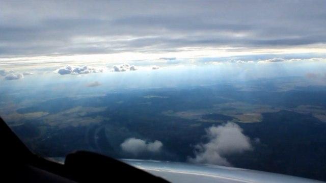 time lapse avion de ligne