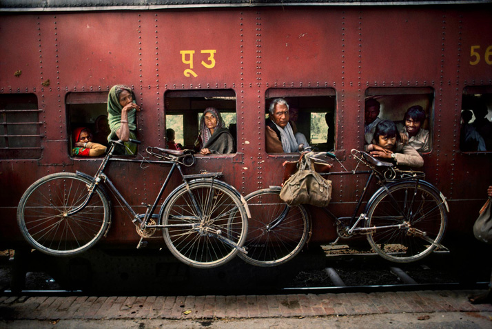 Steve McCurry : les voyages en train en Inde