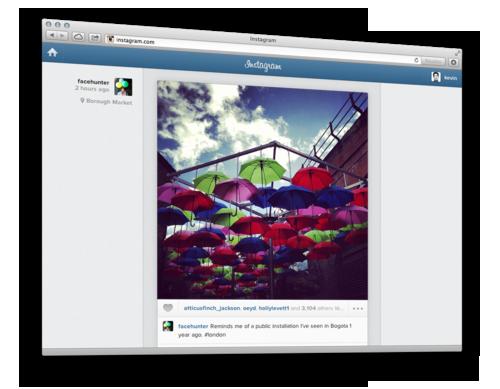 Instagram sur le web