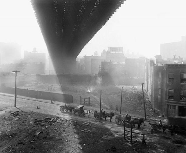 Brooklyn Bridge et son ombre