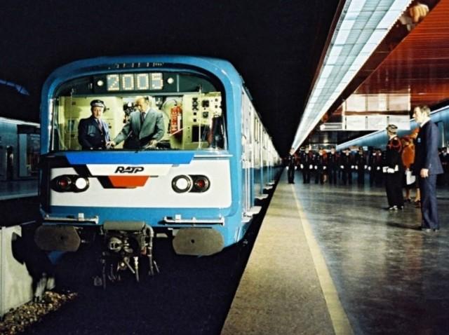 Valéry Giscard d'Estaing en 1977 inaugure la partie Est du RER A