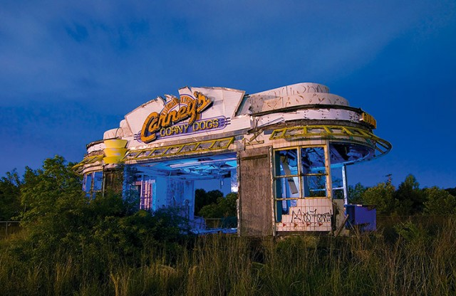 Carney's Corny Dogs. Abandoned hot dog stand in Shreveport, Louisiana. May