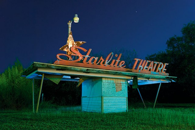 Starlite abandoned drive-in ticket booth. Schertz, Texas. October 2007
