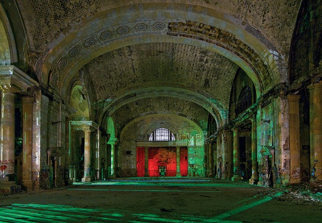 The Main Hall of the abandoned Mercury train station in Detroit, Michigan.