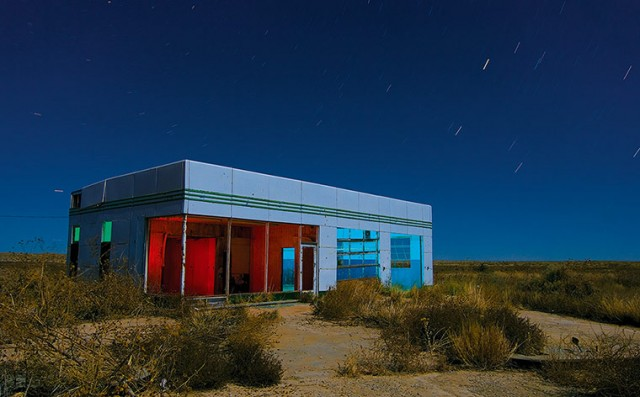 This is a six-minute exposure of an abandoned Texaco station along Intersta