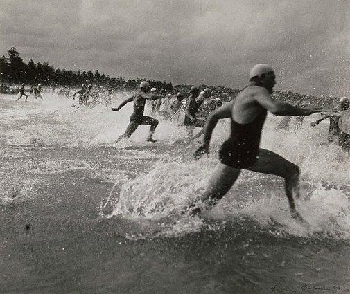 Course de surf, 1940