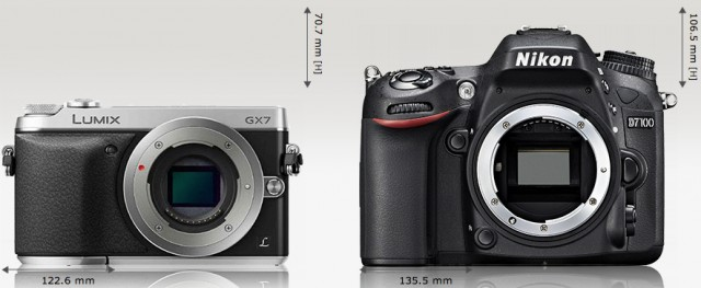 Panasonic_Lumix_DMC-GX7_vs_Nikon_D7100_Camera_Size_Comparison