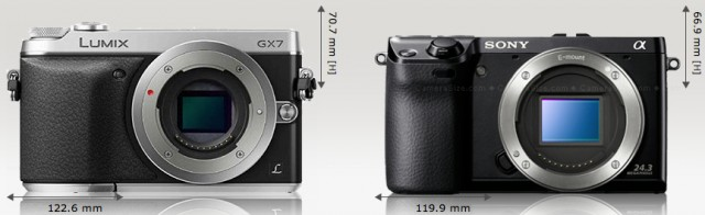 Panasonic_Lumix_DMC-GX7_vs_Sony_NEX-7_Camera_Size_Comparison