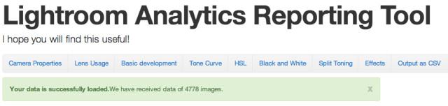 Lightroom Analytics Reporting Tool
