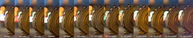 Zoom 100% à différents iSO