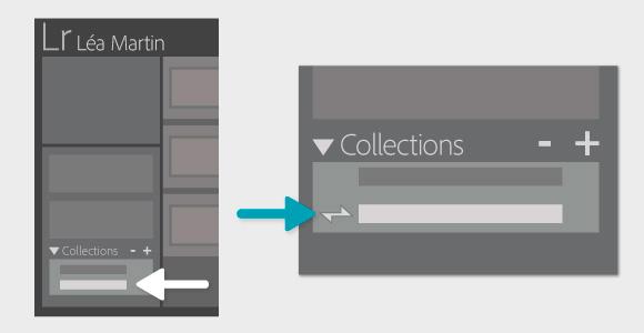 La synchronisation des photos passe par les collections dans Lightroom