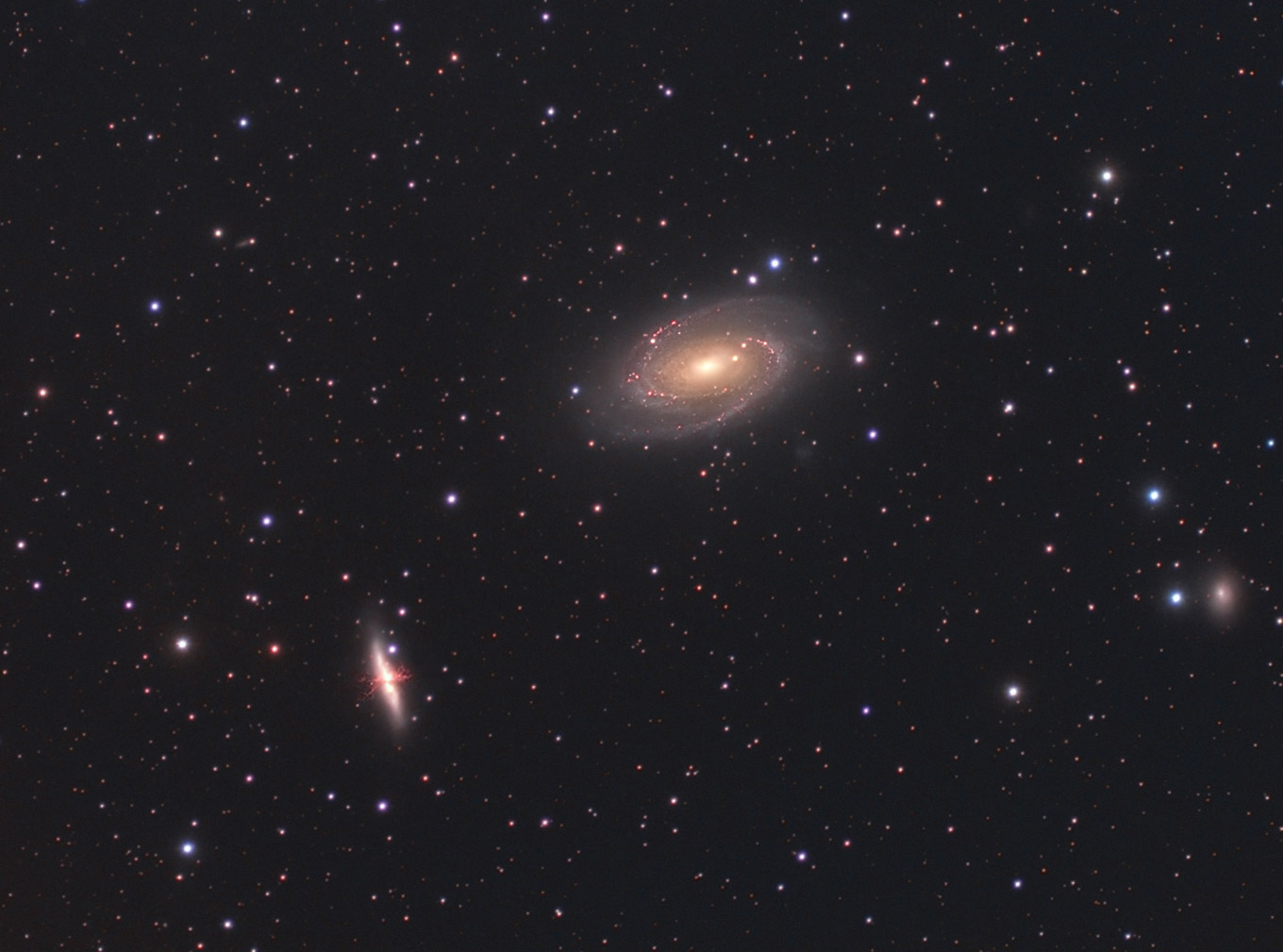 Les galaxies M81 et M82