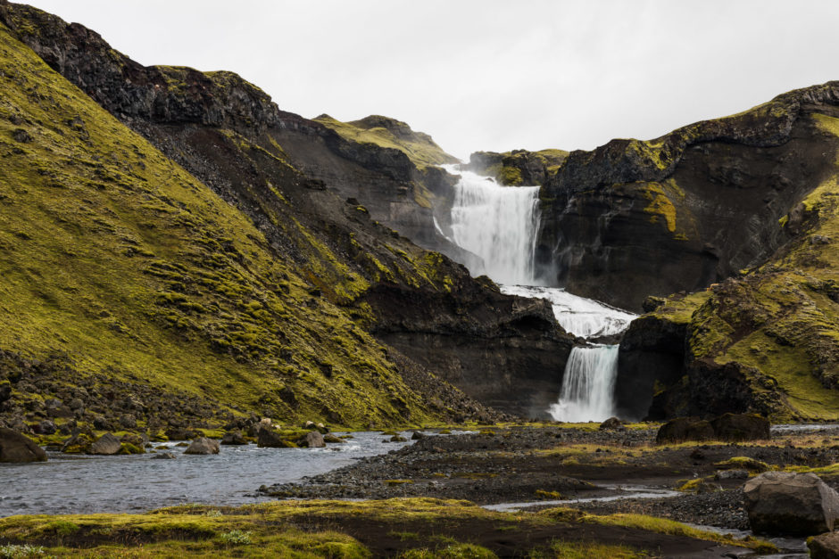 Ofærufoss waterfall without ND filter