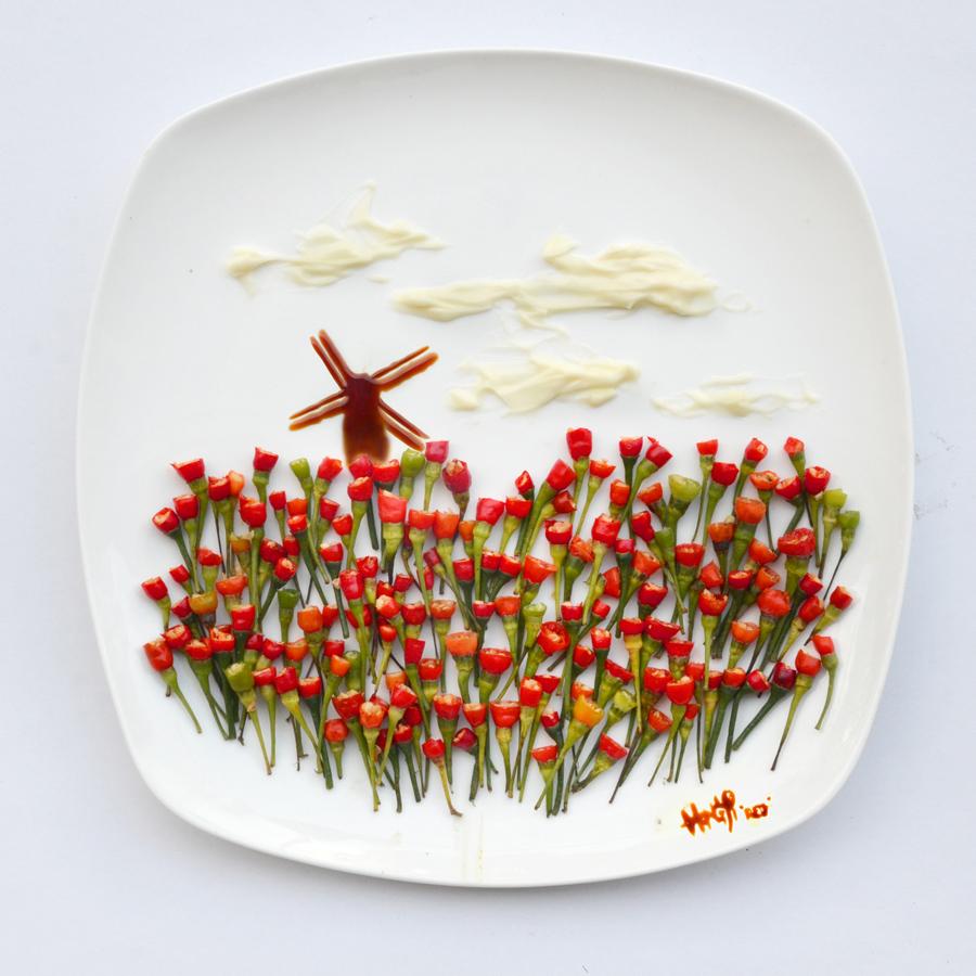De L'art Dans Nos Assiettes Avec Red Hong Yi