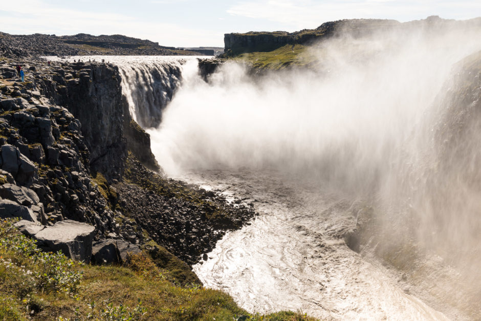 Dettifoss waterfalls without ND filter