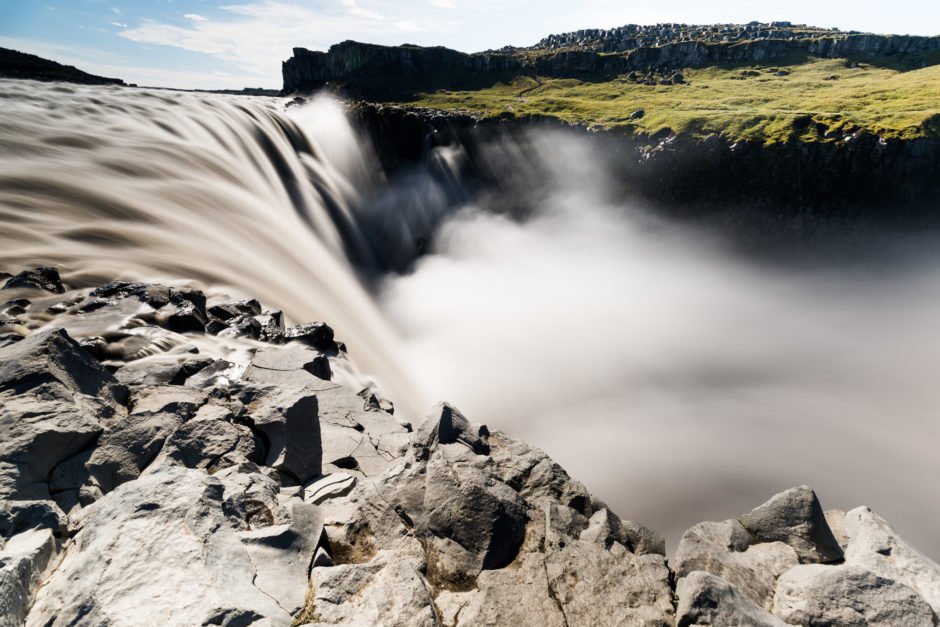 Dettifoss waterfalls with ND filter