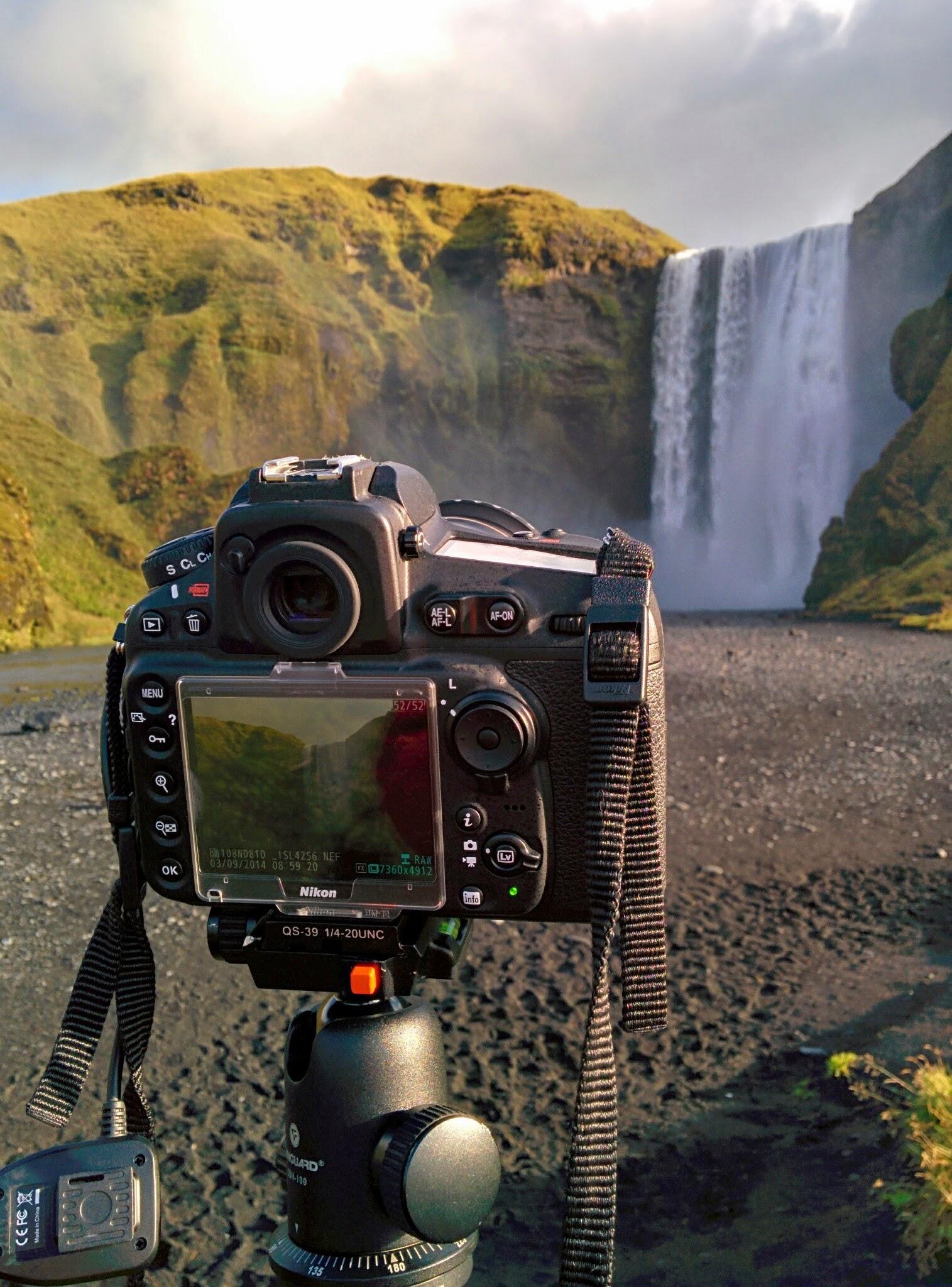 Pose longue de bon matin en Islande