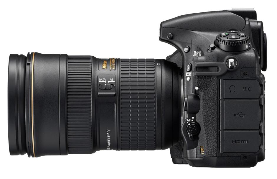 Nikkor 24-70 mm f/2.8 monté sur un D810. Massif n'est-ce pas ?