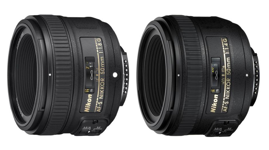 Les Nikkor 50 mm f/1.8 et f/1.4