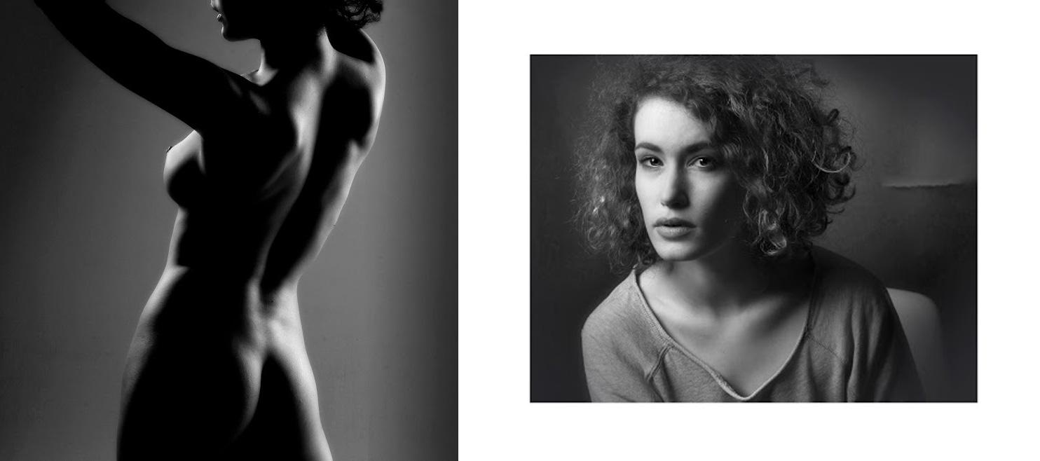 Portraits - Jean Turco. Photos préparatoires des épisodes consacrés au studio : Nu et Portrait.