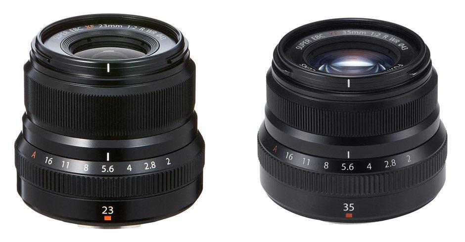 Fuji XF 23mm et 35mm dans la série f/2 R WR