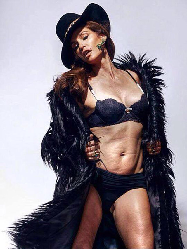 Cindy Crawford No Photoshop