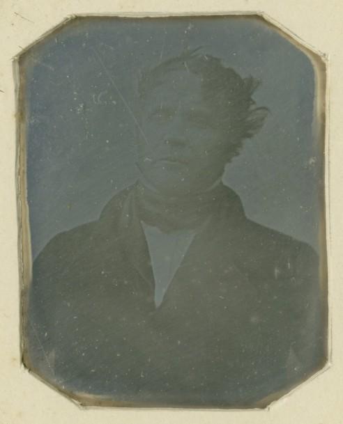 M. Huet, 1837, daguerréotype réalisé par Louis Jacques Mandé DAGUERRE