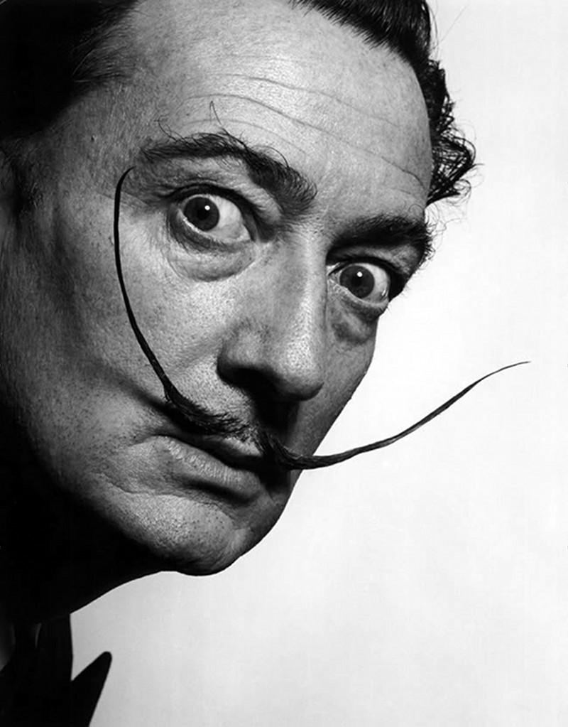 Dali photographié par Philippe Halsmann