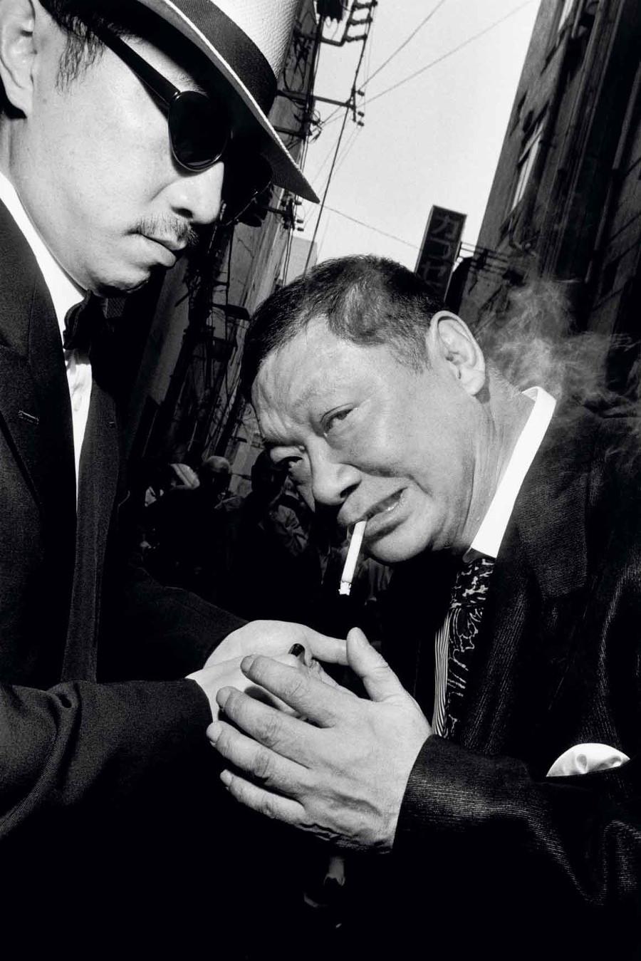 Yakuza photographié par Bruce Gilden