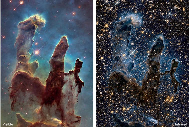Les Piliers de la création (ou Nébuleuse de l'Aigle) - © NASA