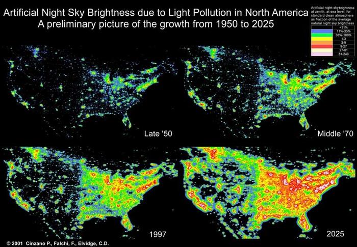 pollution lumineuse Etats Unis