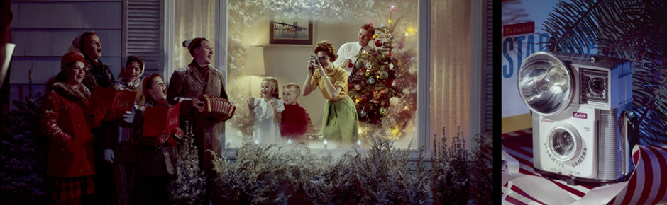 Neil Montanus. Christmas Carolers, 1961. Colorama 195