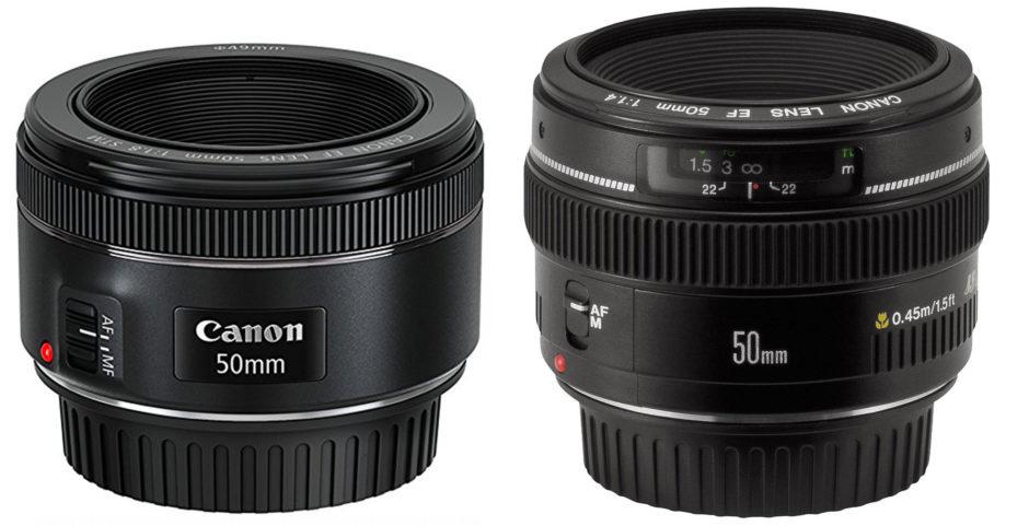 Les deux 50 mm de Canon f/1.8 STM et f/1.4