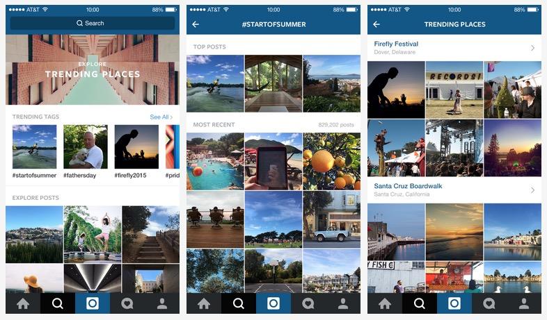 Nouvelle recherche Instagram 2