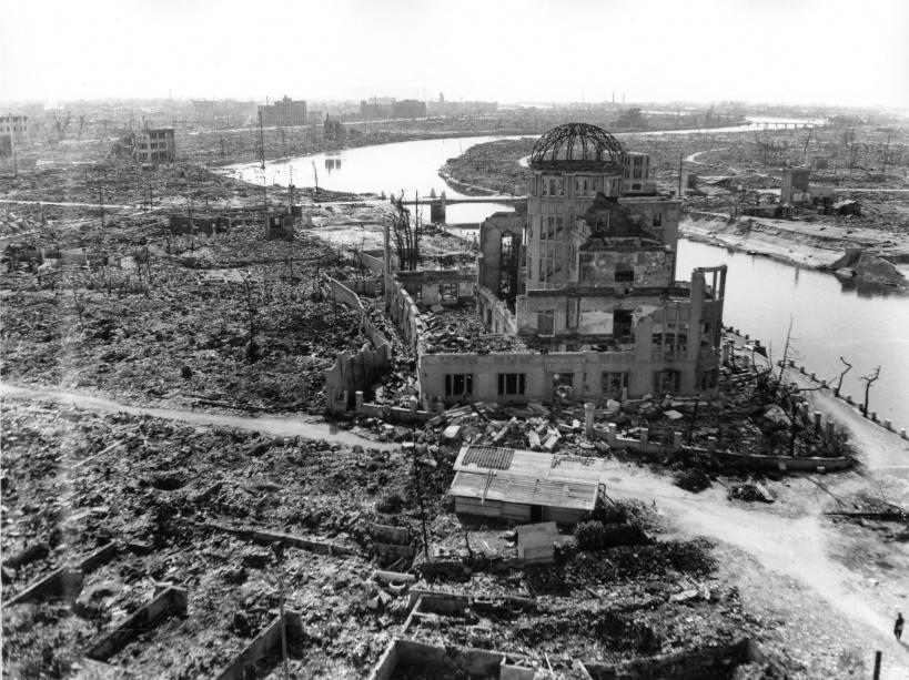 Le Dôme de Genbaku, ruine emblématique d'Hiroshima - © AFP PHOTO/HIROSHIMA PEACE MEMORIAL MUSEUM