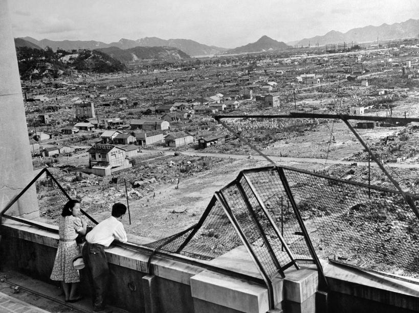 La ville d'Hiroshima, toujours dévastée même 3 ans après la bombe atomique - © AFP/STF