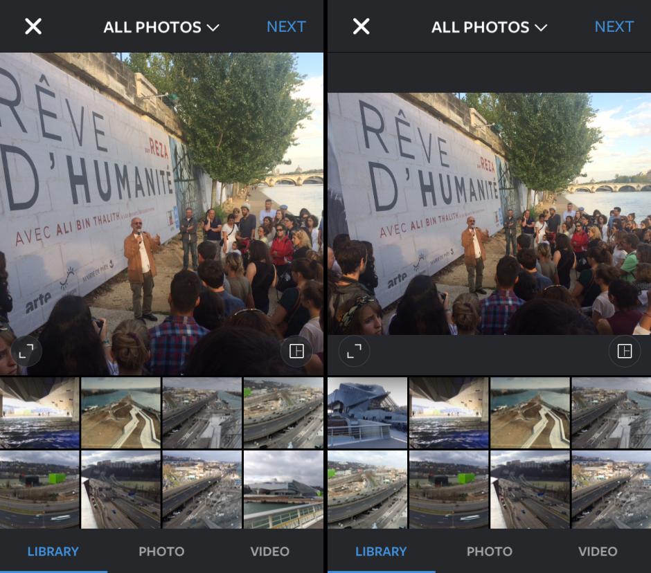 instagram permet  enfin    de partager des photos en paysage ou portrait