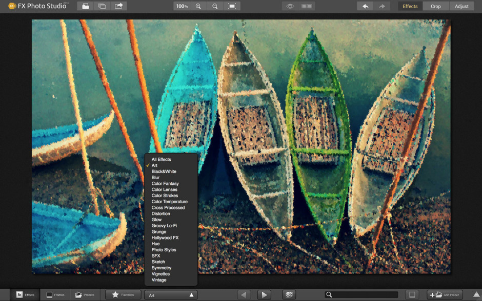 FX Photo Studio permet de réaliser de nombreux effets, mais n'exagérez-pas (Crédit photo : Macphun)