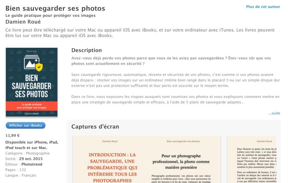 iTunes bien sauvegarder ses photos