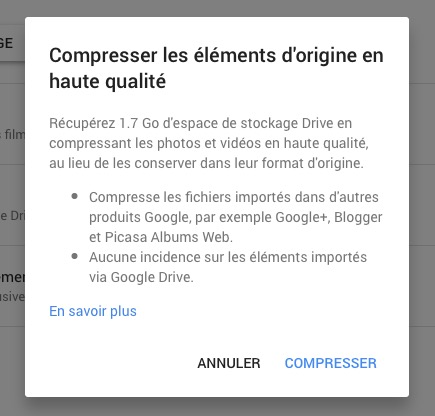 Compresser Google Photos