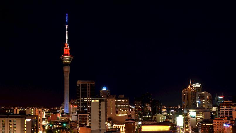La Sky Tower d'Auckland en Nouvelle-Zélande - © REUTERS / Stringer
